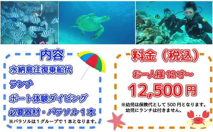 水納島ボート体験ダイビング